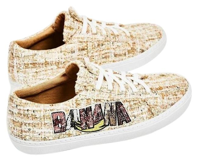 "Item - Multi-color ""Banana"" Sequins Patch New Plimsolls Sneakers Size US 8 Regular (M, B)"