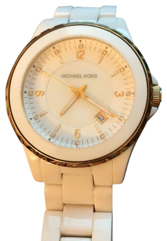 31fa43ec6f0d Michael Kors MK 5349 white and gold watch Image 0 ...
