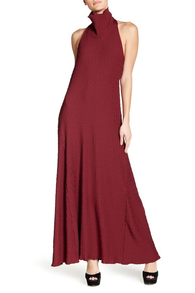 2f2bb504d65c TOV Holy Burgundy Turtleneck Maxi Long Formal Dress Size 6 (S) - Tradesy