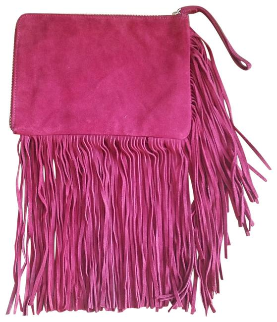 Item - Fringe Red Leather Clutch