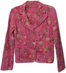Johnny Was Embroidered Cotton Pink Jacket