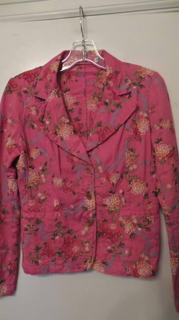 Johnny Was Embroidered Cotton Pink Jacket Image 1