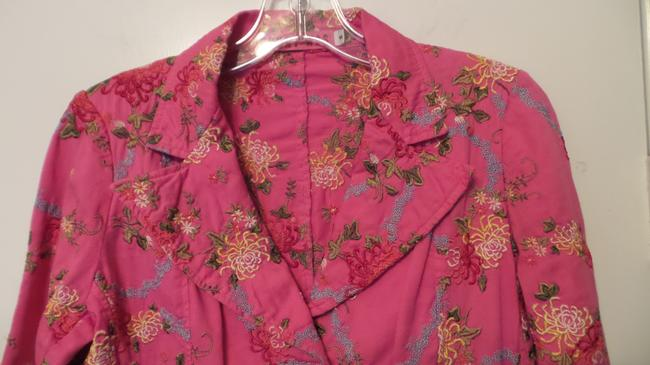 Johnny Was Embroidered Cotton Pink Jacket Image 3