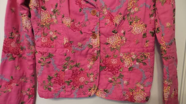 Johnny Was Embroidered Cotton Pink Jacket Image 4