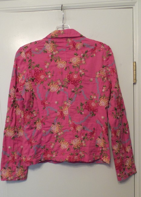 Johnny Was Embroidered Cotton Pink Jacket Image 9