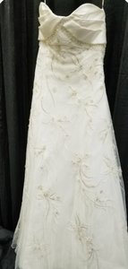 Sottero and Midgley Ivory Embroidered Tulle/Satin Traditional Wedding Dress Size 10 (M)