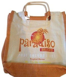 The Wheat Group Tote orange and beige Beach Bag - item med img