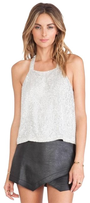 Preload https://img-static.tradesy.com/item/23139196/parker-silver-justina-sequin-night-out-top-size-0-xs-0-3-650-650.jpg