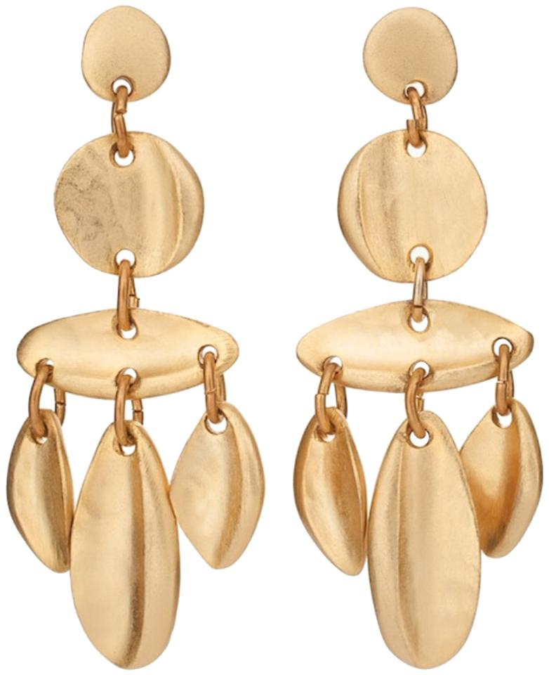 Chicos gold tone leaf chandelier earrings tradesy chicos chicos gold tone leaf chandelier earring aloadofball Image collections