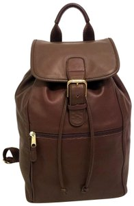 Coach Leather Drawstring Large Backpack
