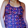 Island Escape Woman Island Escape Inner Aloha Tankini w/ Swim Skirt 18W