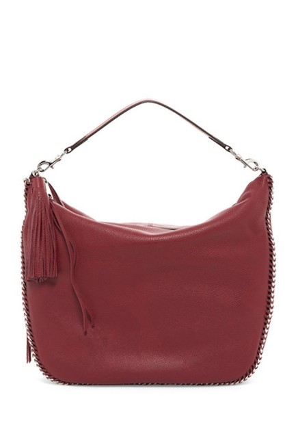Item - Chain Tawny Port and Silver Leather Hobo Bag