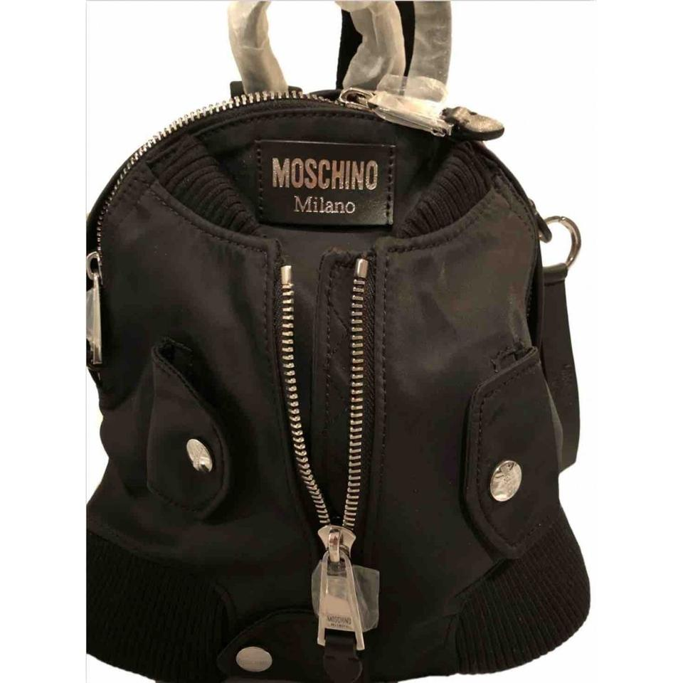 02f693977dcc Moschino Bomber Jacket Black Polyester Backpack - Tradesy
