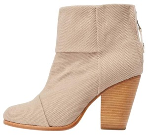 Rag & Bone And Suede Newbury Ankle Taupe Boots