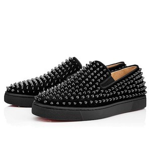 Christian Louboutin Roller Boat Spike Flat Trainer black Athletic