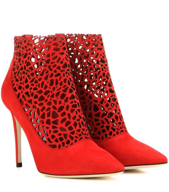 Item - Red Gold Suede Maurice Pointed-toe Laser Cut Ankle Boots/Booties Size EU 39 (Approx. US 9) Regular (M, B)