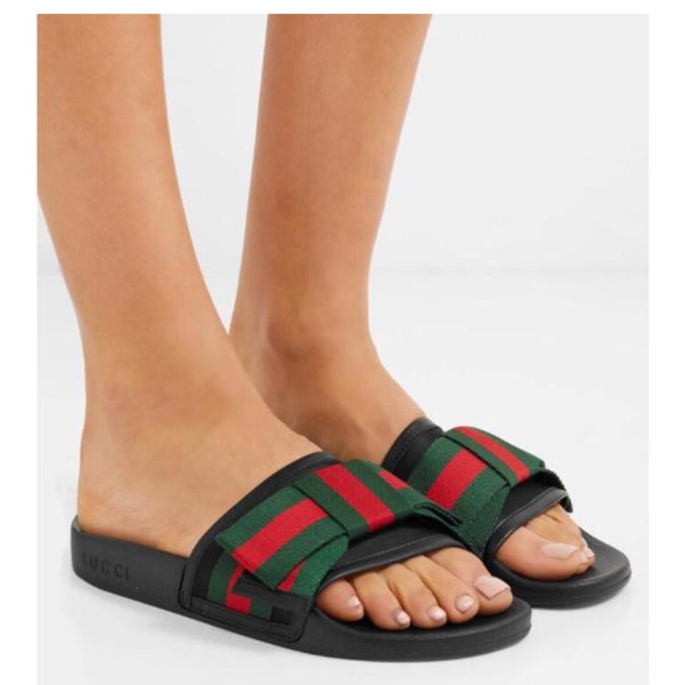 f3560a35fca Gucci Slide with Satin Web Bow Sandals Size US 8 Regular (M