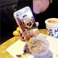 Other Real Fur Rex Rabbit Balls + Colorful Bling Diamond Rhinestone For Iphone Image 2