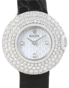 Rolex Rolex Cellini Orchid White Gold Diamond Ladies Watch 6201