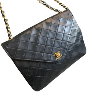 f675f8647be118 Added to Shopping Bag. Chanel Vintage Leather Shoulder Bag. Chanel Classic  Flap Rare Vintage Envelope Black Lambskin ...