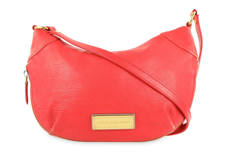 cf278edb287 Marc by Marc Jacobs Flame Scarlet Washed Up Red Leather Cross Body Bag 76%  off retail