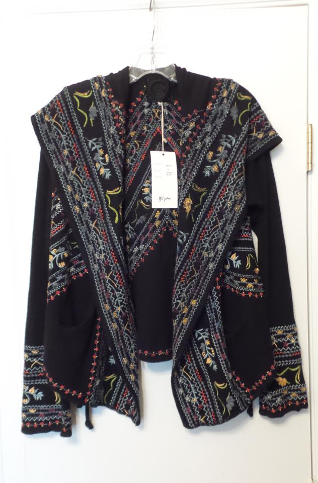 Biya Black New Tag Johnny Was Embroidered Cotton Hoodie ...