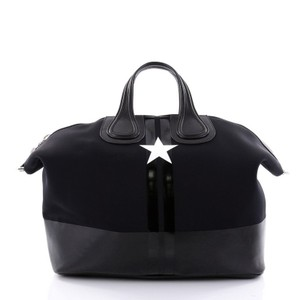 Givenchy Neoprene Leather Satchel in Black