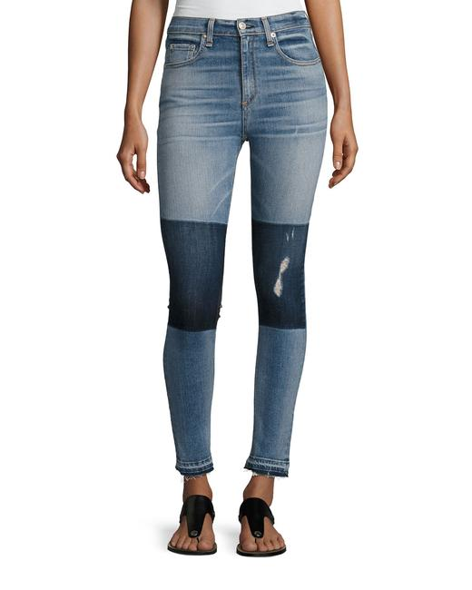 Preload https://img-static.tradesy.com/item/23140516/rag-and-bone-blue-medium-wash-dive-high-rise-colorblock-skinny-jeans-size-26-2-xs-0-1-650-650.jpg