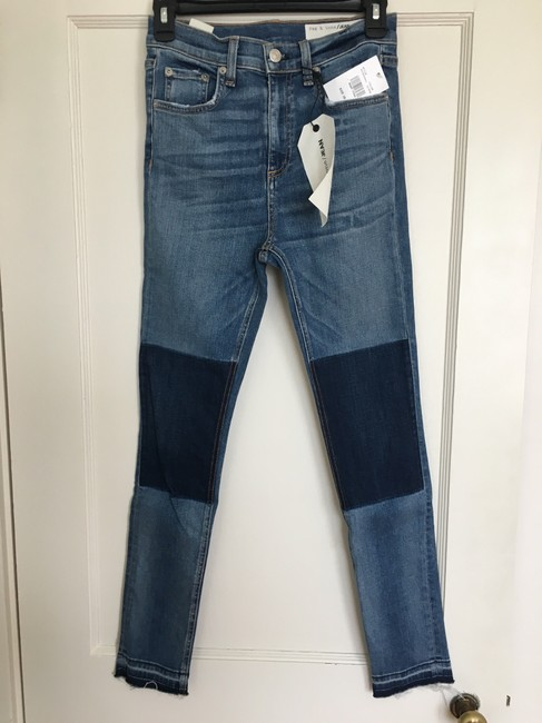 Rag & Bone Skinny Jeans-Medium Wash Image 3