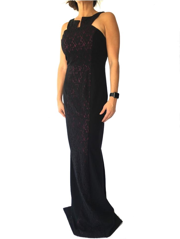 Black Halo Crushed Eve Gown Long Formal Dress Size 8 (M) - Tradesy