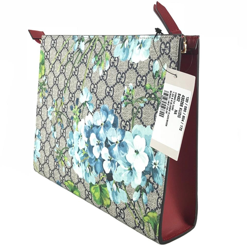5a1d1672fc7 Gucci GUCCI 430268 GG Blooms Large Pouch Cosmetic Case Image 9. 12345678910