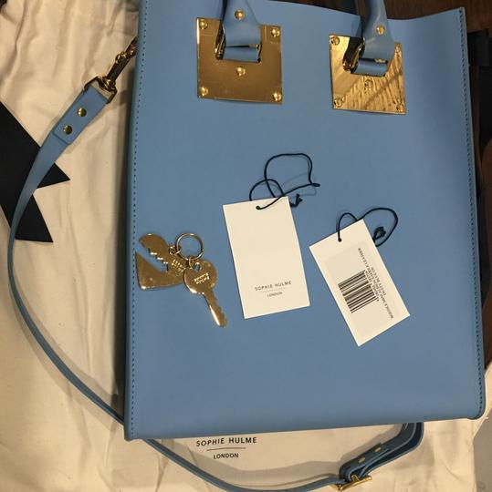 Sophie Hulme Mini Tote in BLUE Image 1