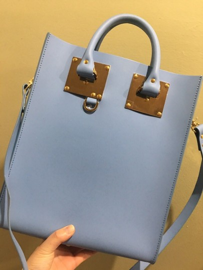 Sophie Hulme Mini Tote in BLUE Image 2
