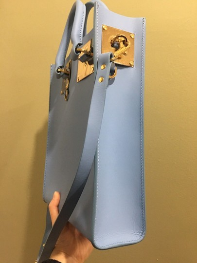 Sophie Hulme Mini Tote in BLUE Image 3