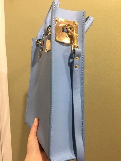 Sophie Hulme Mini Tote in BLUE Image 5