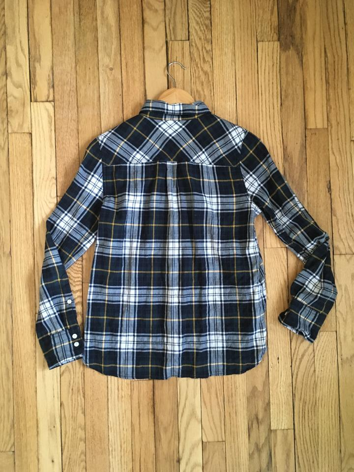 b60fee509 J.Crew Plaid Cotton Classic Printed Longsleeve Button Down Shirt Navy blue,  Green,. 12345