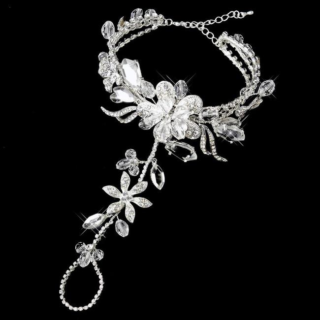 Item - Silver Swarovski Beach Wedding Barefoot Sandals Bridal Foot Jewelry* Sold Out