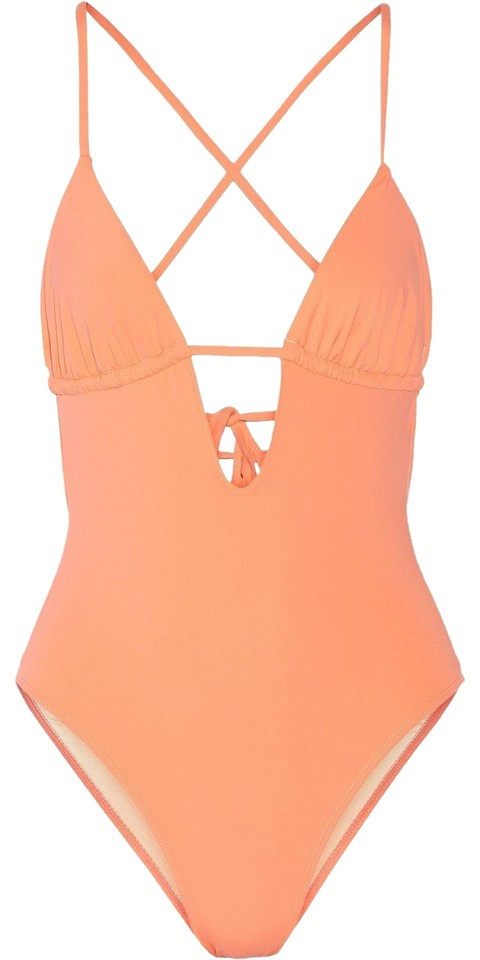 9fbfcecf96ef3 Tart Collections Coral Hera Cutout One-piece Bathing Suit Size 6 (S ...