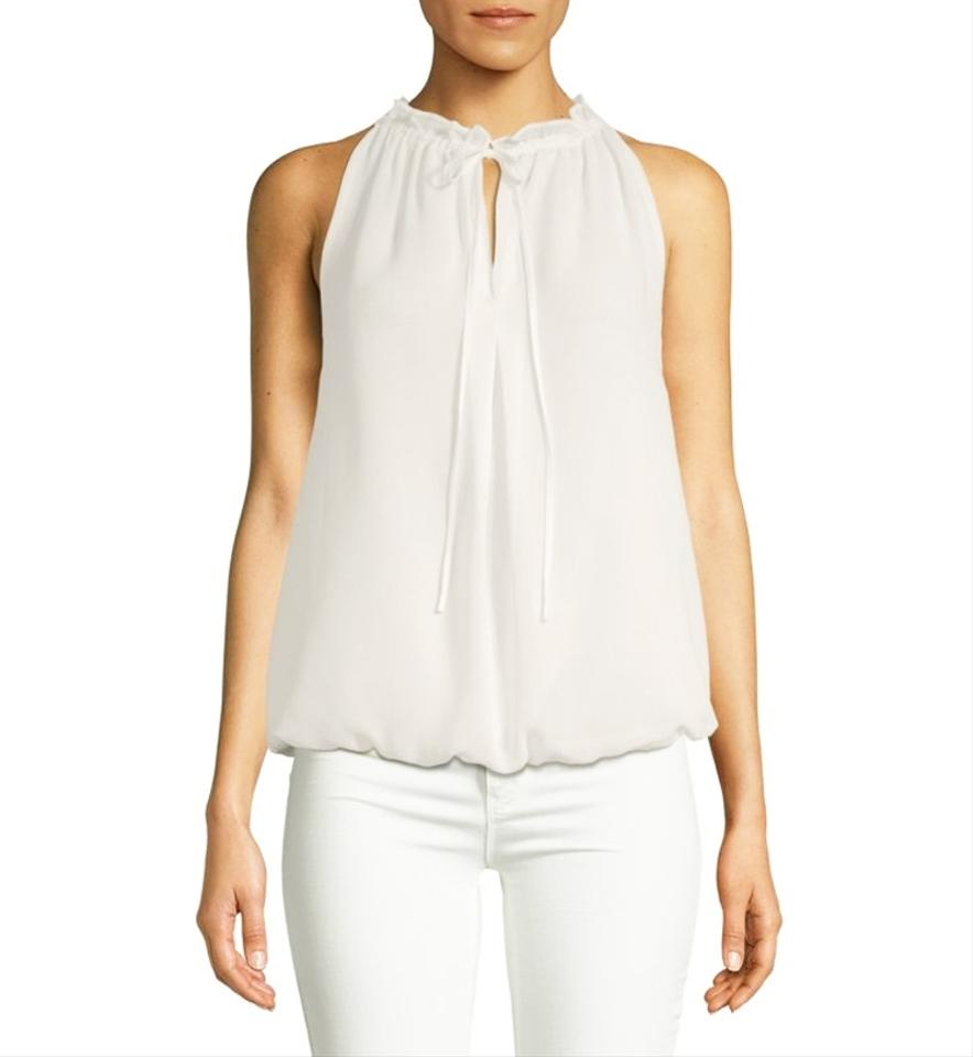 cce38016d8841f White Sleeveless Blouse Tie