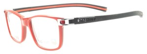 TAG Heuer Tag Heuer Unisex Square Sunglasses TH7603 004 Grey/Red Frame Demo Lens