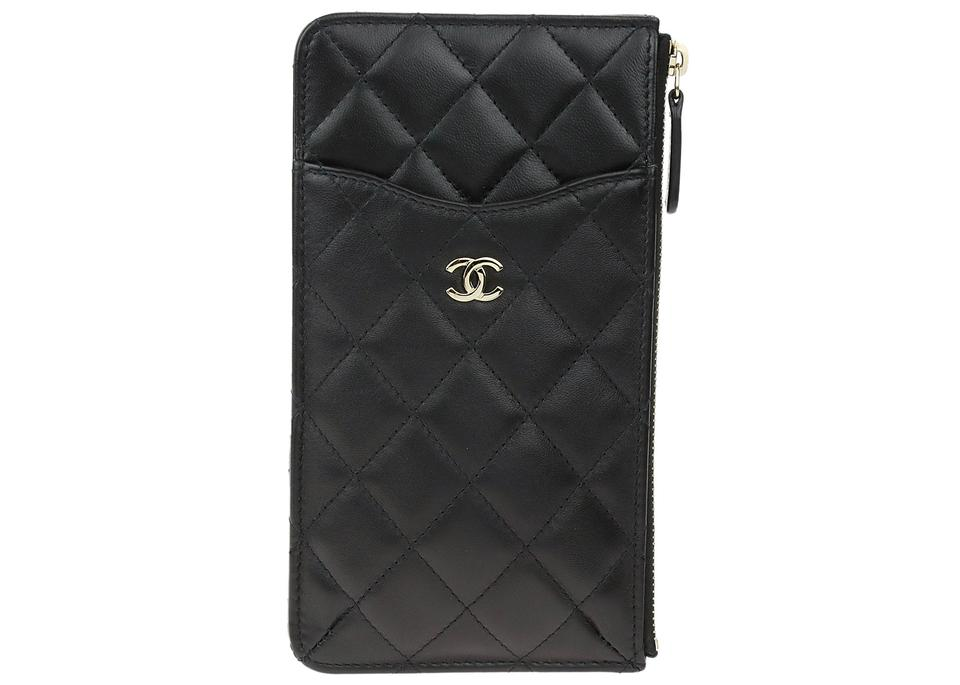 4edcbafc12ce Chanel Chanel Black Lambskin Cell Phone Pouch Image 0 ...