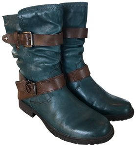 Earth Dark Turquoise and Brown Boots