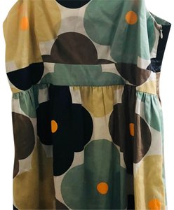 Orla Kiely short dress ivory, light teal, butter, light brown, tangerine and black on Tradesy