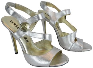 Versace for H&M Limited Edition Leather Silver Sandals