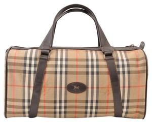 Burberry Vintage European Limited Edition Canvas Satchel in brown