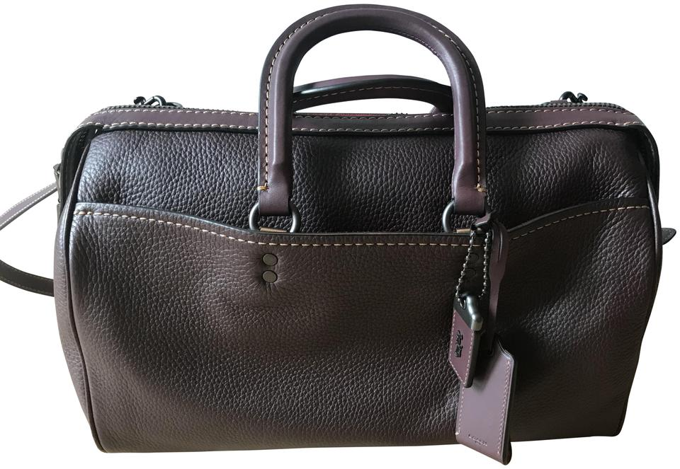 5539a643bd7 Coach 1941 Rogue In Glovetanned Pebble Burgundy Leather Satchel ...