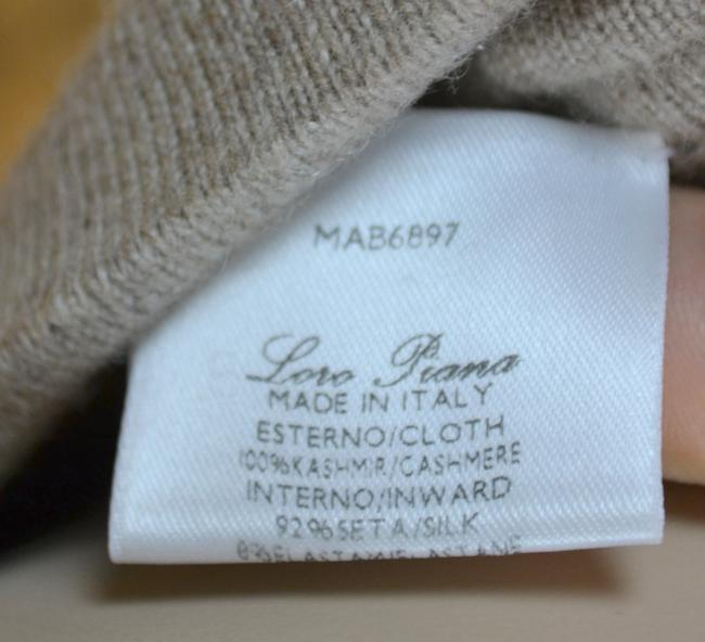 Loro Piana Cashmere Luxury Wide Leg Pants Beige