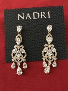 "Nadri Gold 'legacy' Crystal Chandelier Measurements: 2""L X 0""W X Earrings"