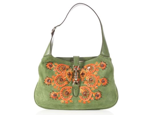 Preload https://img-static.tradesy.com/item/23142355/gucci-jackie-embroidered-green-suede-shoulder-bag-0-0-540-540.jpg