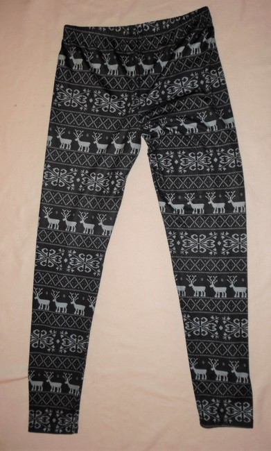 cold crush Christmas Winter Snow Dark Gray, Light Blue Leggings